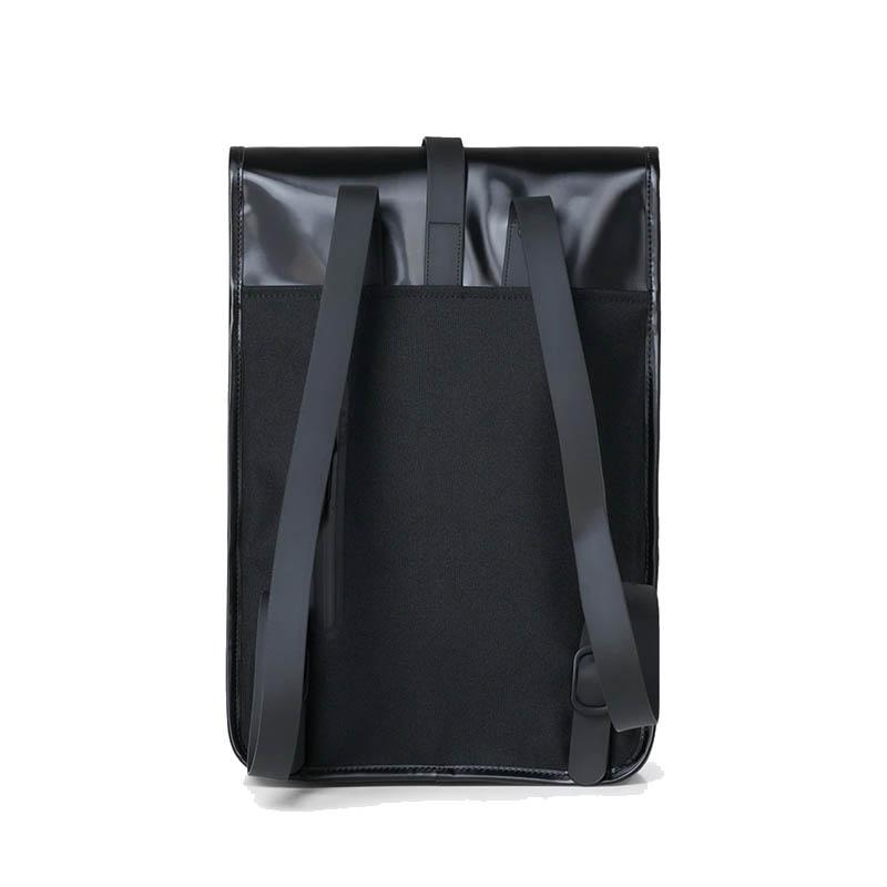 RAINS Backpack Mini Shiny Black-184143