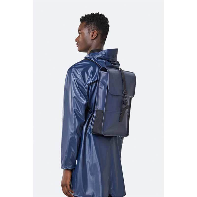 RAINS Backpack Mini Shiny Blue-184132