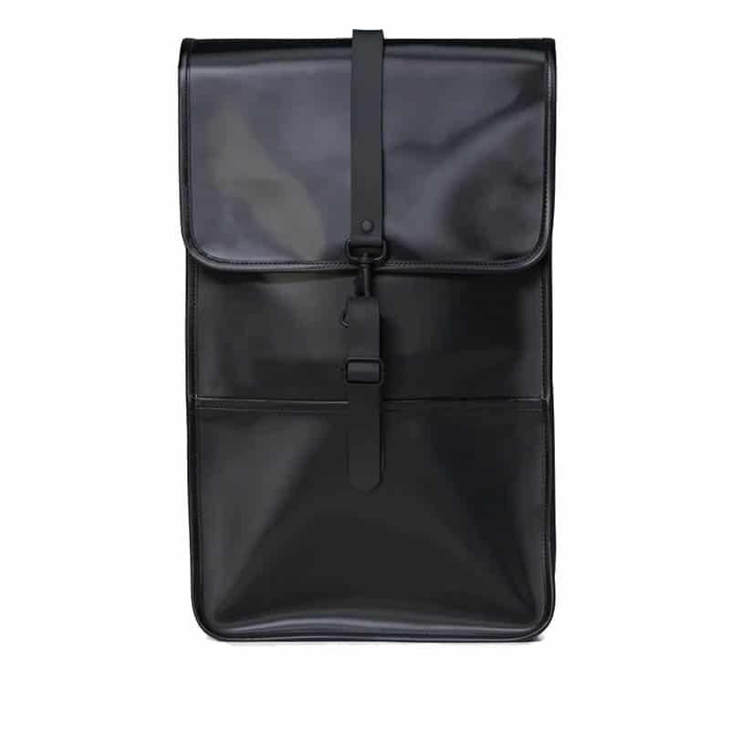 RAINS Backpack Shiny Black-0
