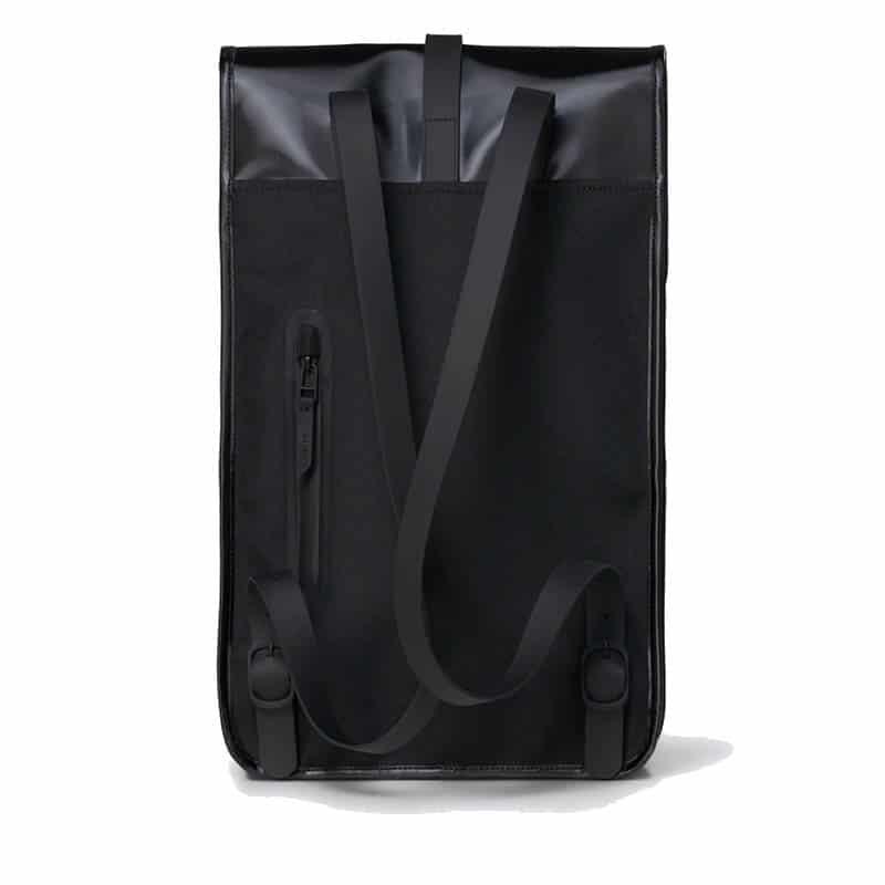 RAINS Backpack Shiny Black-184103