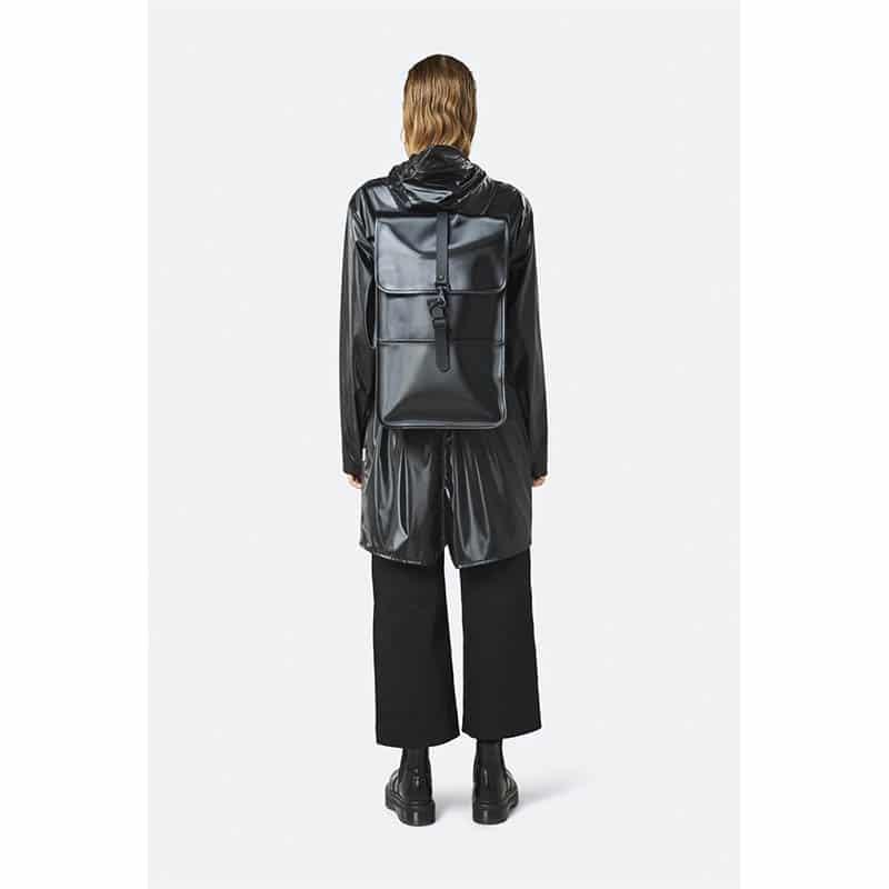 RAINS Backpack Shiny Black-184105
