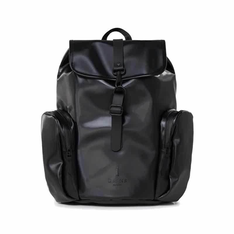 RAINS Oversize Rucksack Shiny Black-0