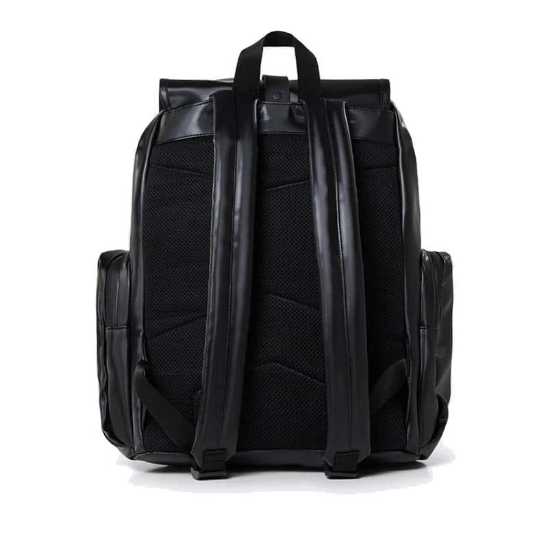 RAINS Oversize Rucksack Shiny Black-184185