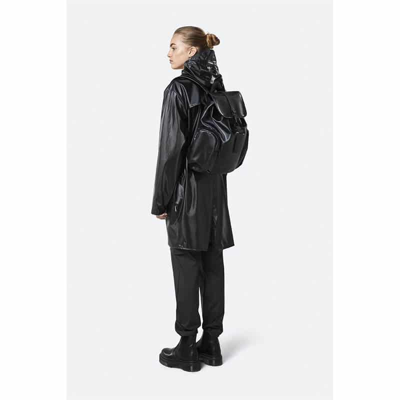 RAINS Oversize Rucksack Shiny Black-184186