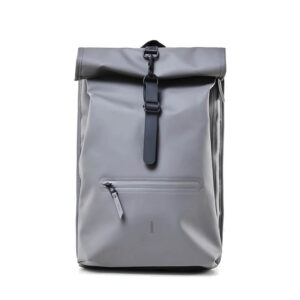 RAINS Roll Top Backpack Charcoal-0