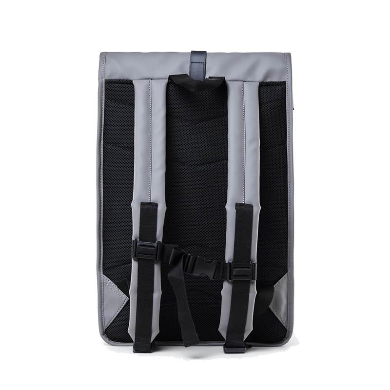 RAINS Roll Top Backpack Charcoal-184156
