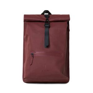 RAINS Roll Top Backpack Maroon-0