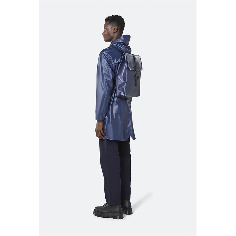 RAINS Rucksack Shiny Blue-184167