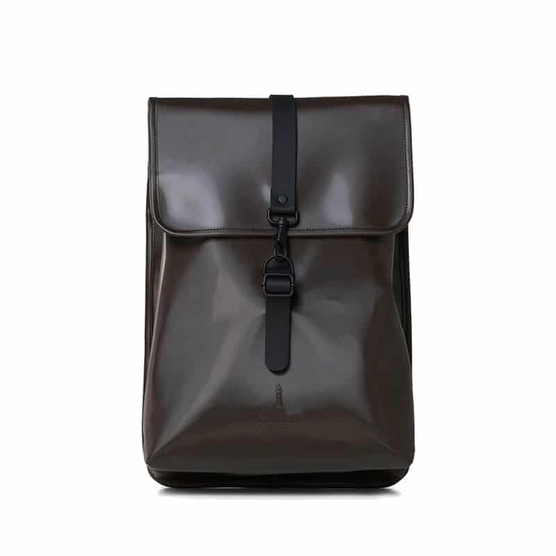 RAINS Rucksack Shiny Brown-0