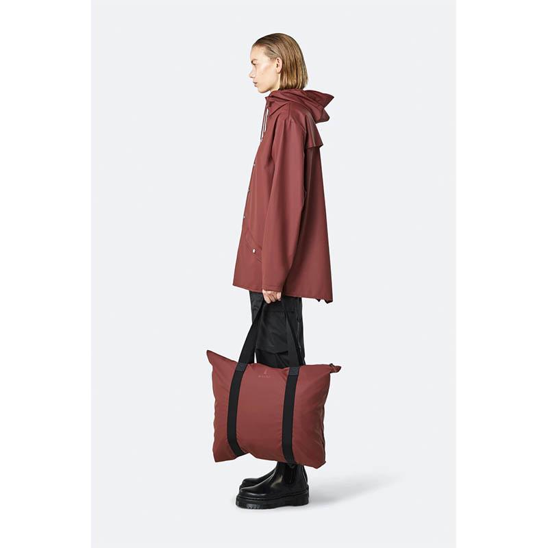 RAINS Tote Bag Maroon-184107