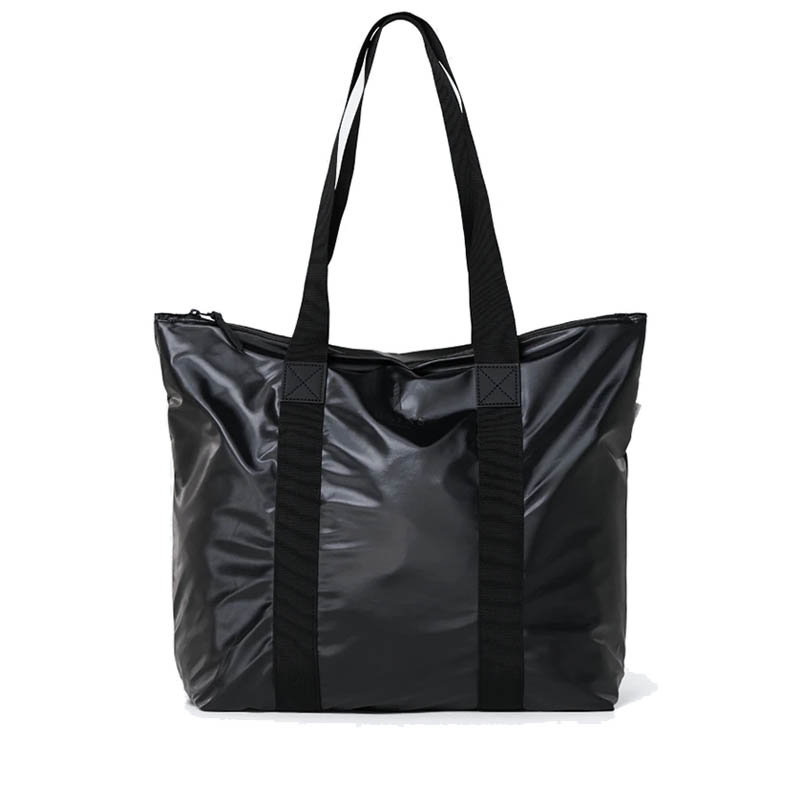 RAINS Tote Bag Rush Shiny Black-0