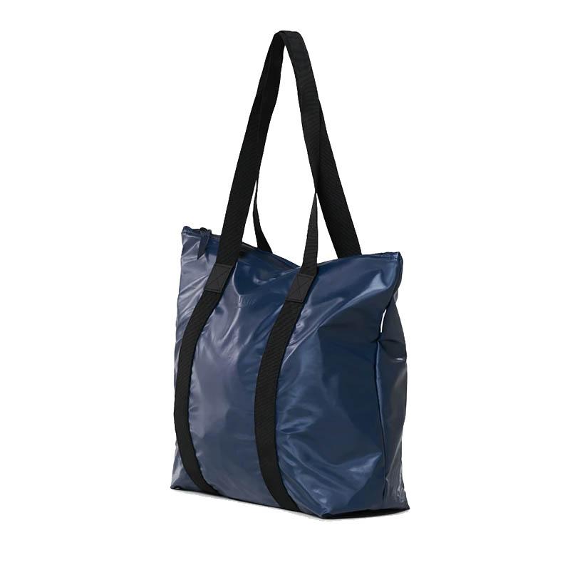 RAINS Tote Bag Rush Shiny Blue-184118