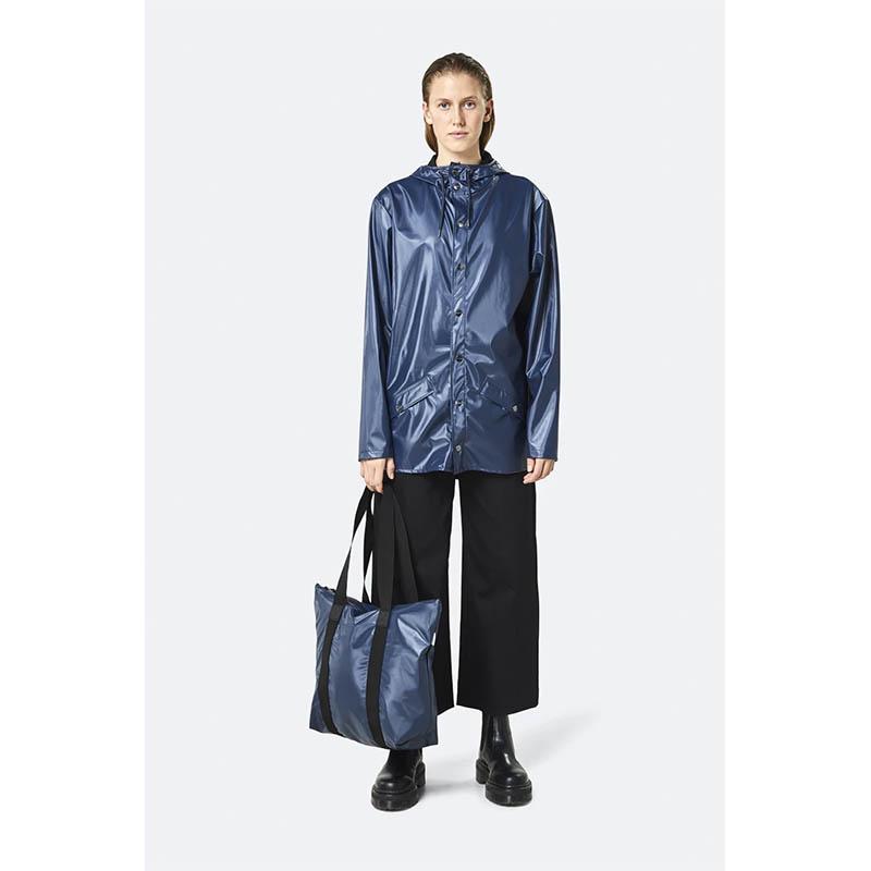 RAINS Tote Bag Rush Shiny Blue-184119
