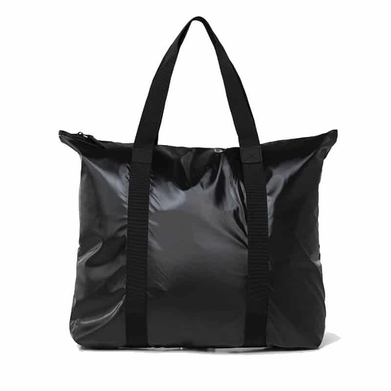 RAINS Tote Bag Shiny Black-0