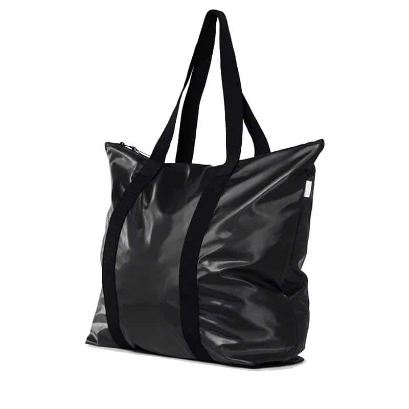 RAINS Tote Bag Shiny Black-184113