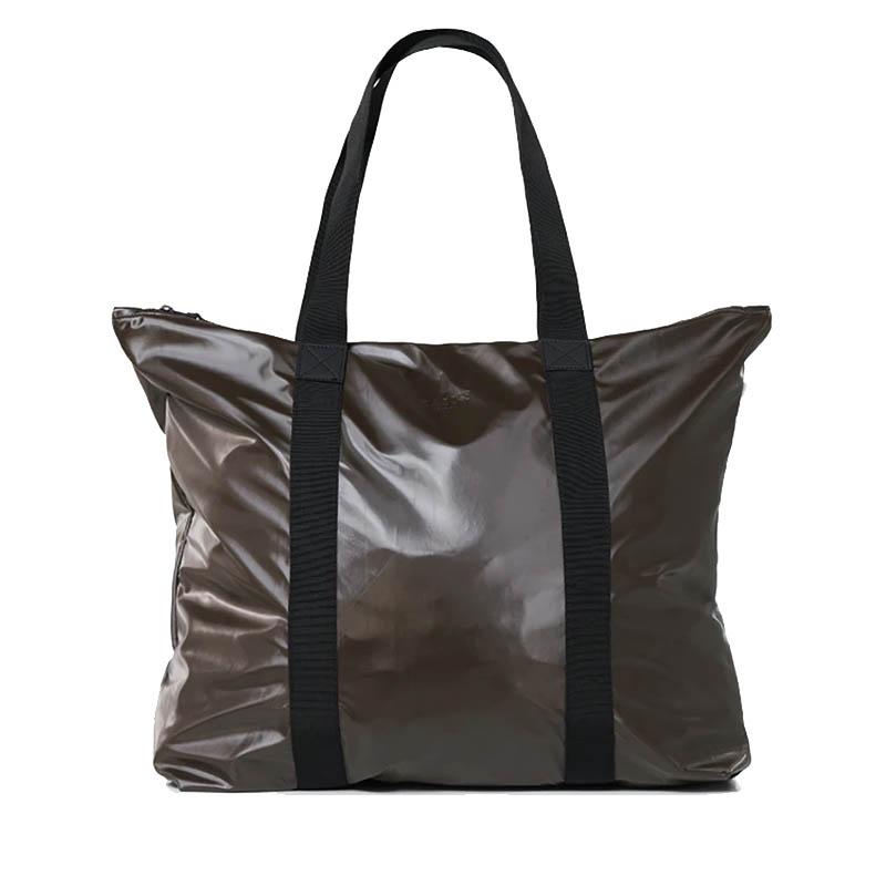 RAINS Tote Bag Shiny Brown