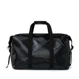 RAINS Weekend Duffel Bag Shiny Black-0