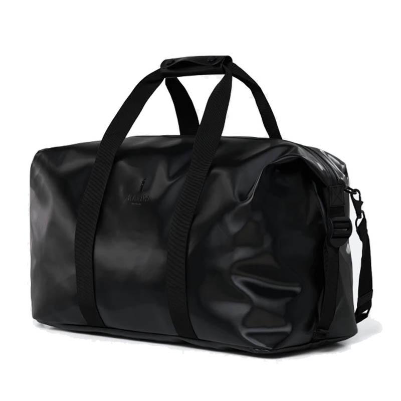RAINS Weekend Duffel Bag Shiny Black-184158