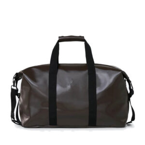 RAINS Weekend Duffel Bag Shiny Brown-0