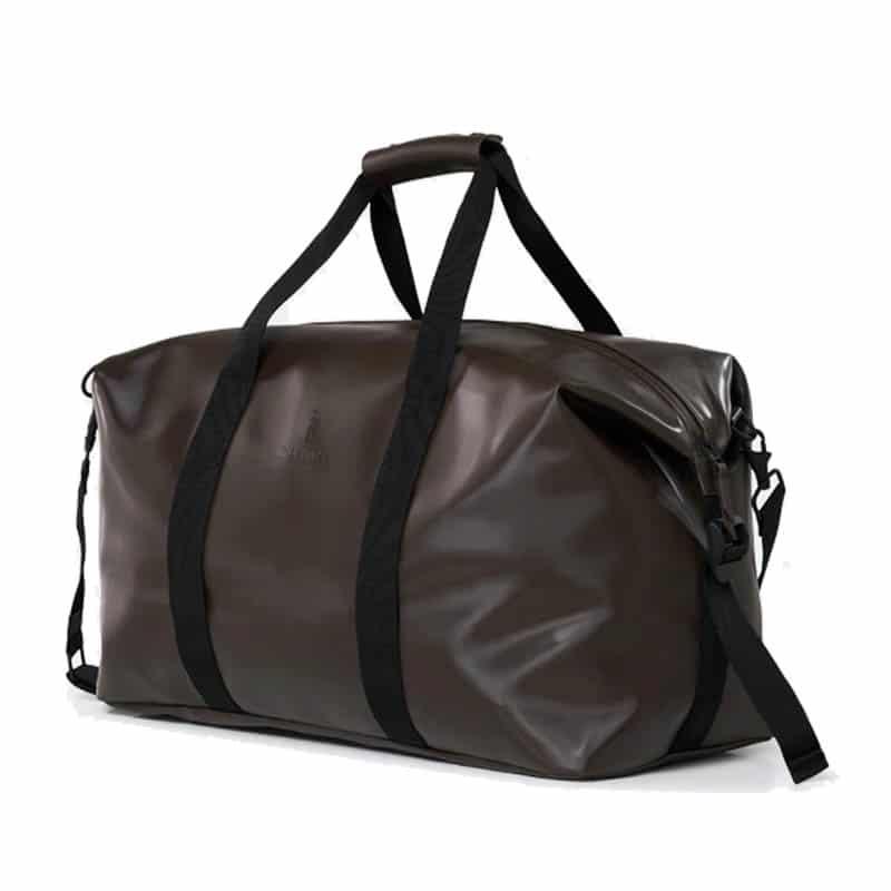 RAINS Weekend Duffel Bag Shiny Brown-184161