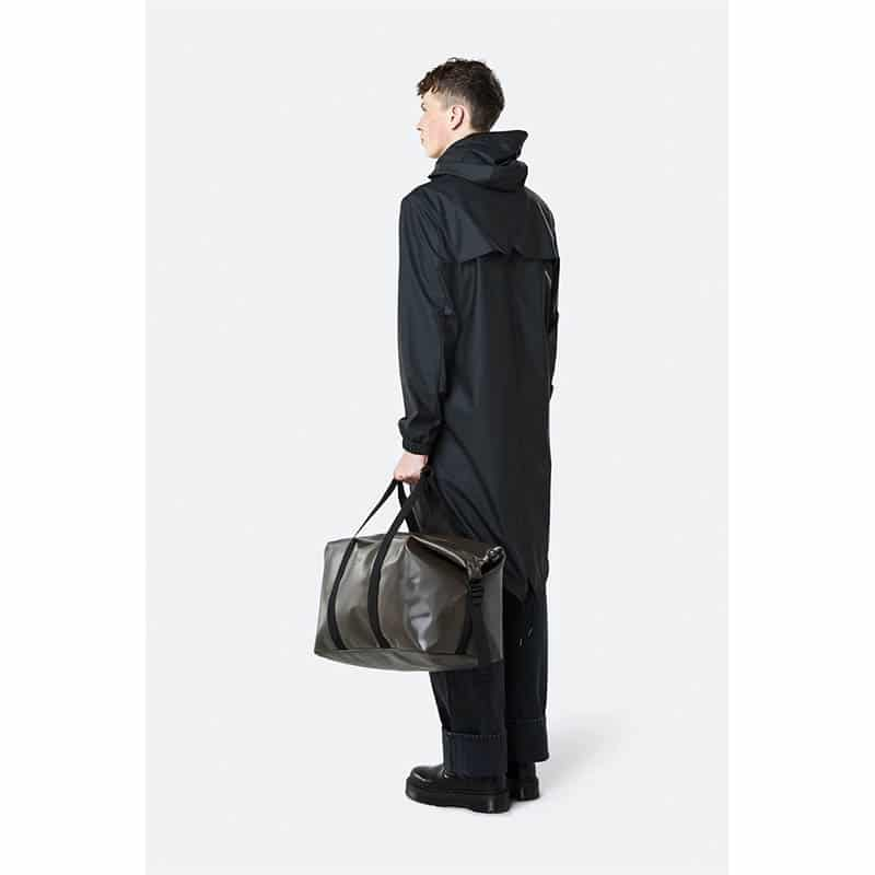RAINS Weekend Duffel Bag Shiny Brown-184162