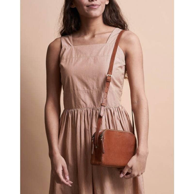 O My Bag Emily Eco Stromboli Camel / Full Leather Strap-185129