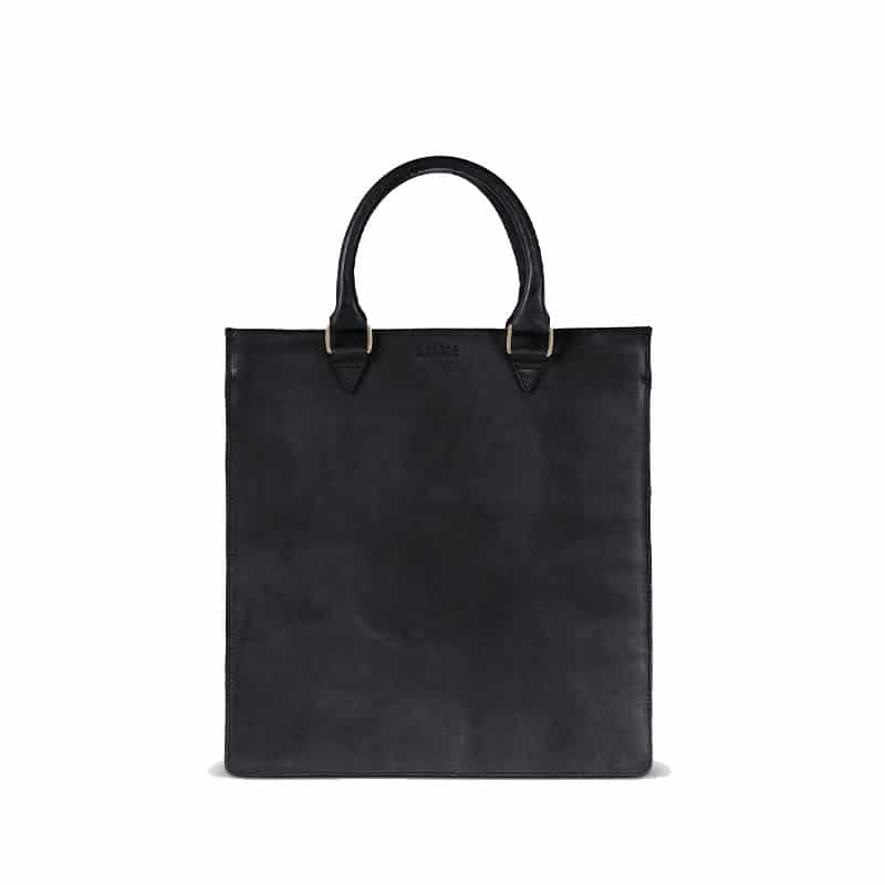 O My Bag Mila Shopper (Short Handle) Black-0