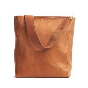 O My Bag Sofia Stromboli Leather Cognac-0