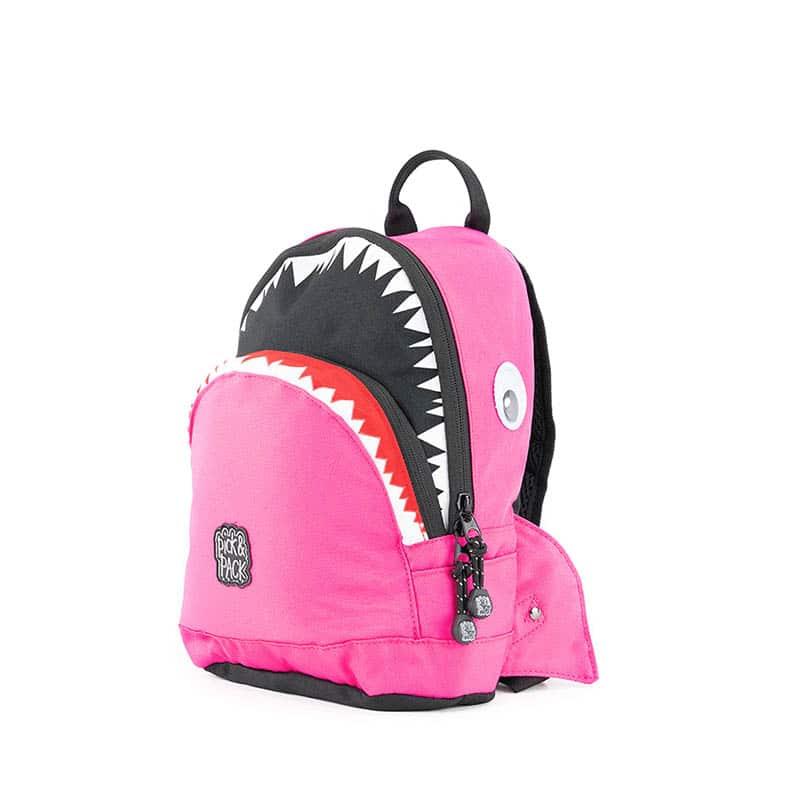 Pick & Pack Backpack Shark Shape Fuchsia-0