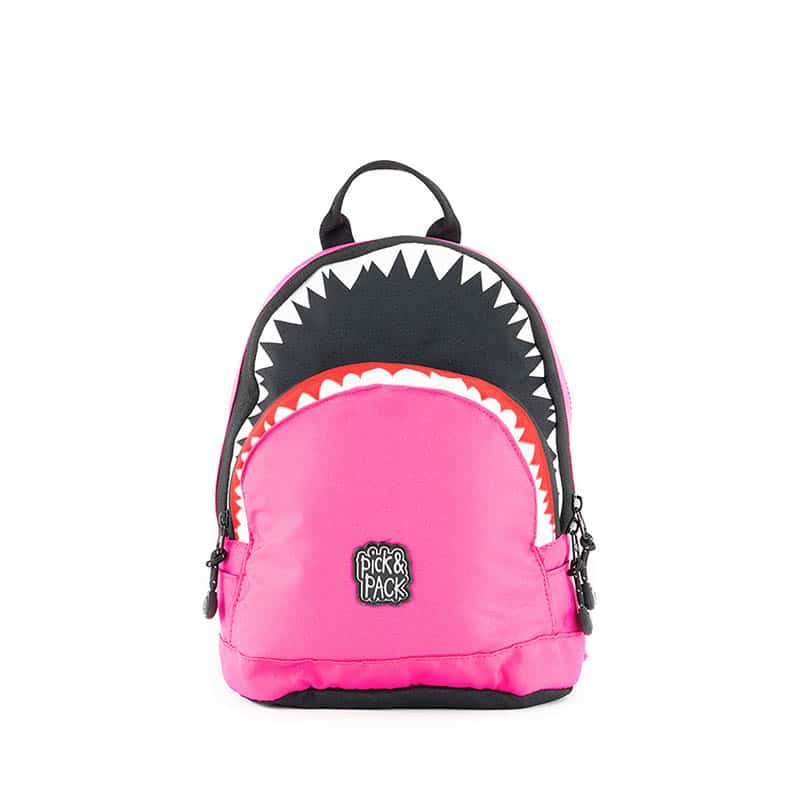 Pick & Pack Backpack Shark Shape Fuchsia-184814