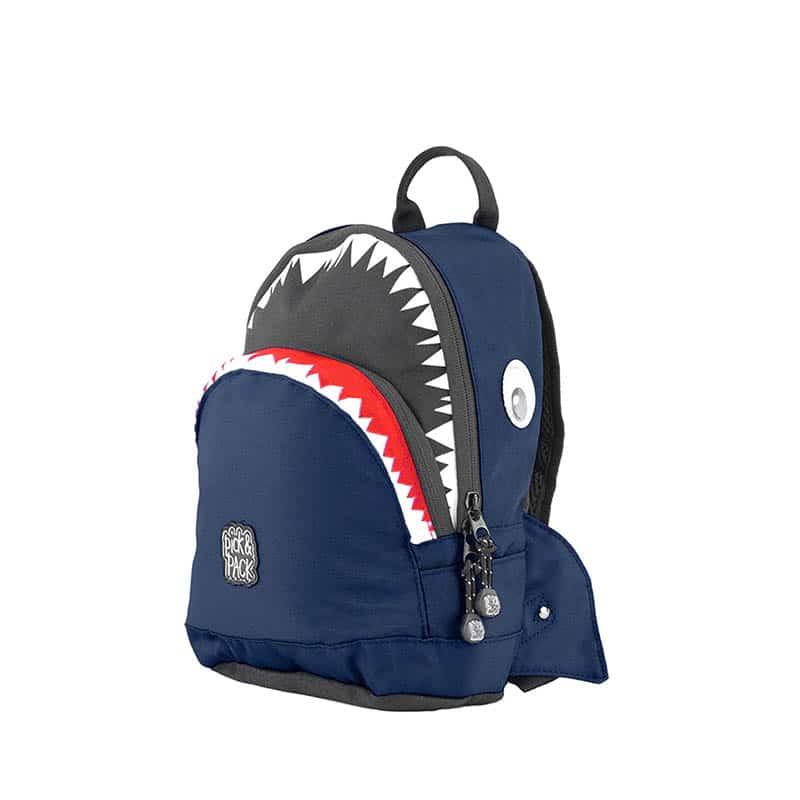 Pick & Pack Backpack Shark Shape Navy-0