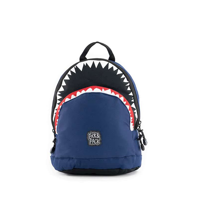 Pick & Pack Backpack Shark Shape Navy-184810