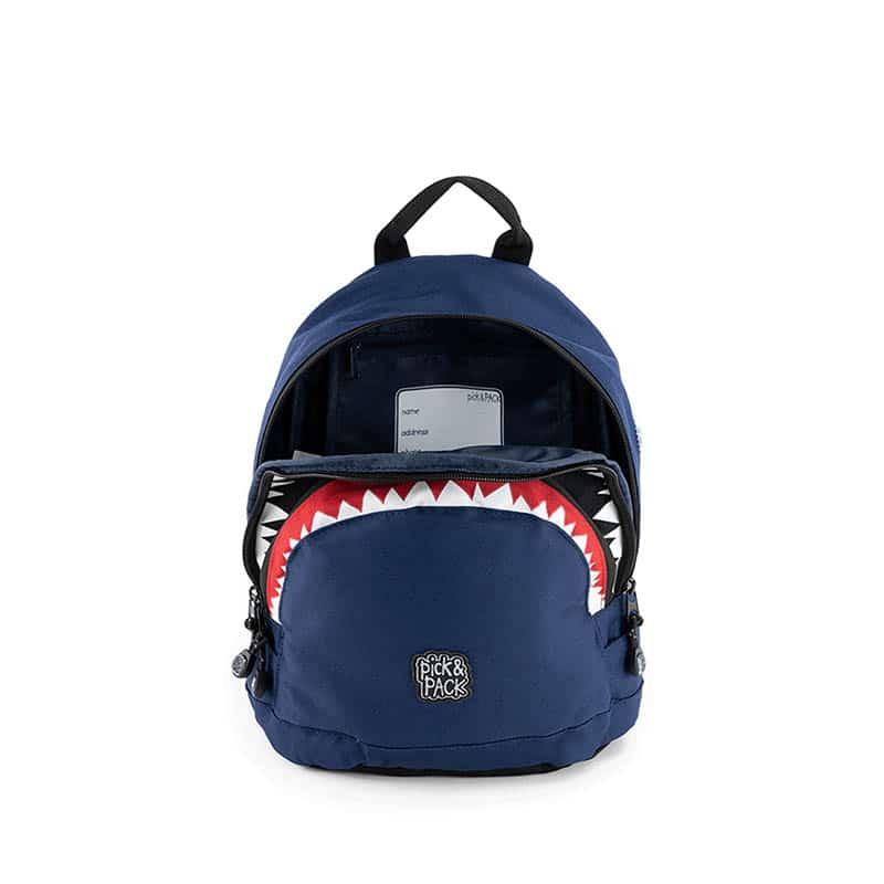 Pick & Pack Backpack Shark Shape Navy-184812