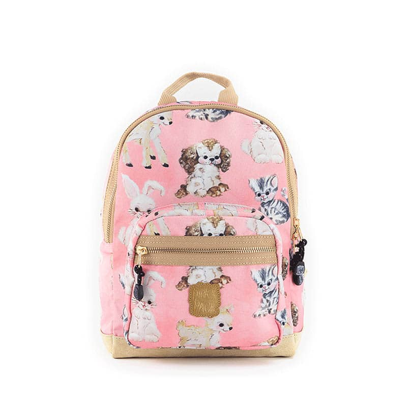 Pick & Pack Small Backpack Cute Animals Coral-0