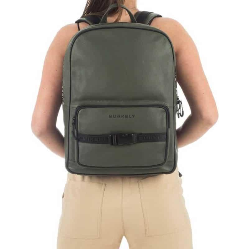 "Burkely Rebel Reese 15"" Backpack Green-185379"