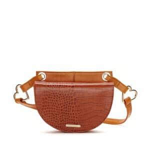 Fabienne Chapot Lilian Shoulderbag Croco Cognac/Bronze
