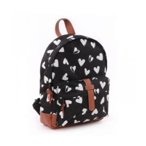 Kidzroom Backpack Black & White Hearts