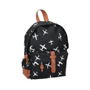 Kidzroom Backpack Black & White Planes