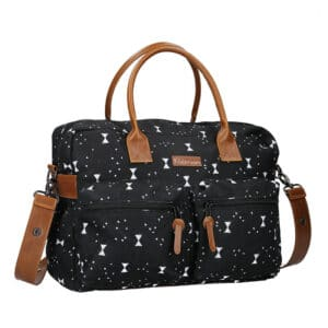 Kidzroom Diaper Bag Black & White Bows