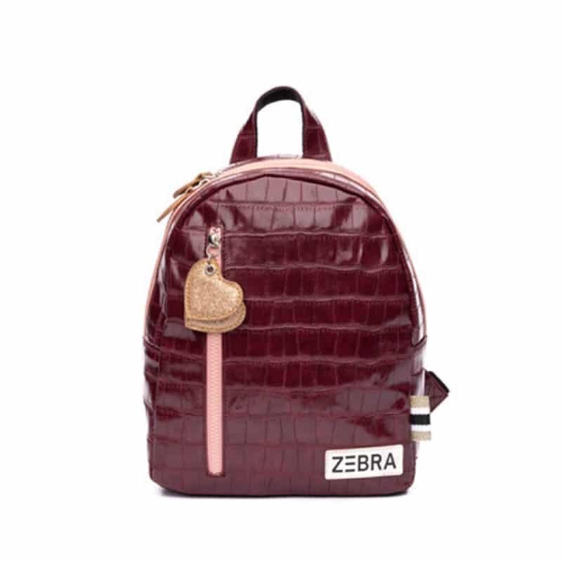 Zebra Trends Backpack S Croco Red & Pink-0