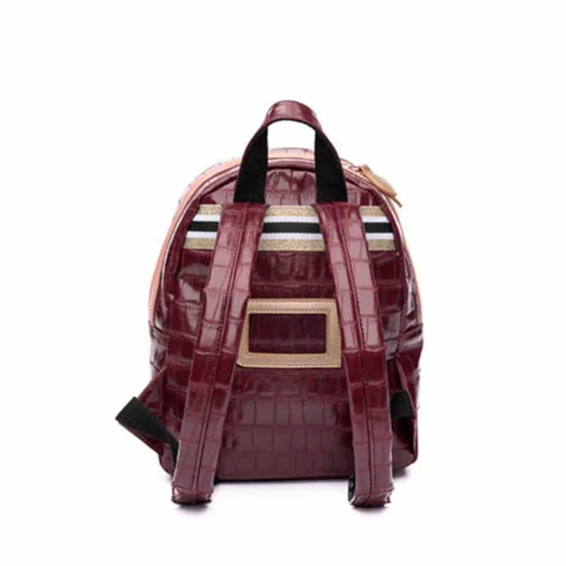 Zebra Trends Backpack S Croco Red & Pink-185428