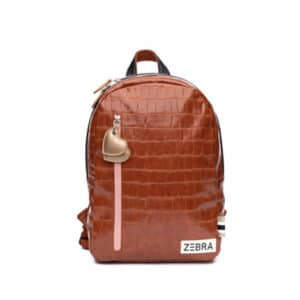 Zebra Trends Girls Backpack M Croco Camel & Gold-0