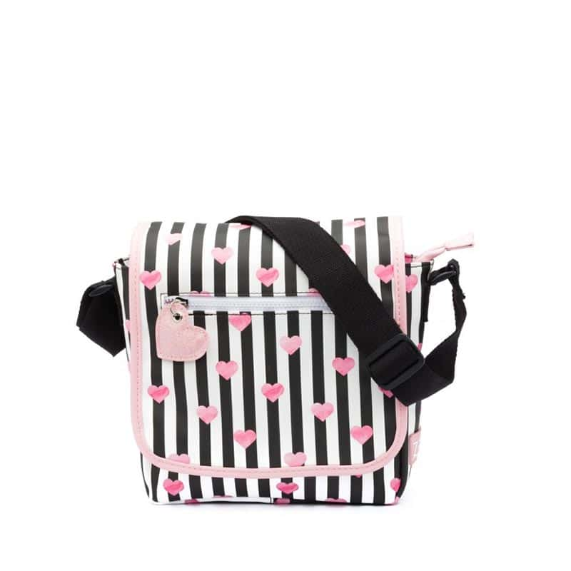 Zebra Trends Kids Crossbody Stripes & Hearts-0