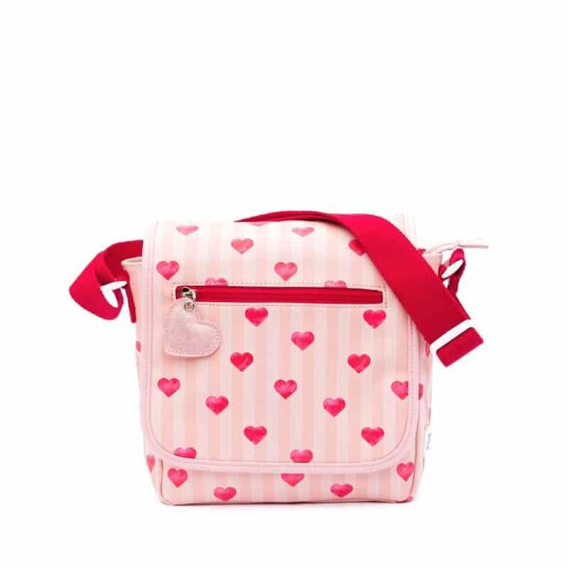 Zebra Trends Kids Crossbody Stripes & Hearts Pink-0