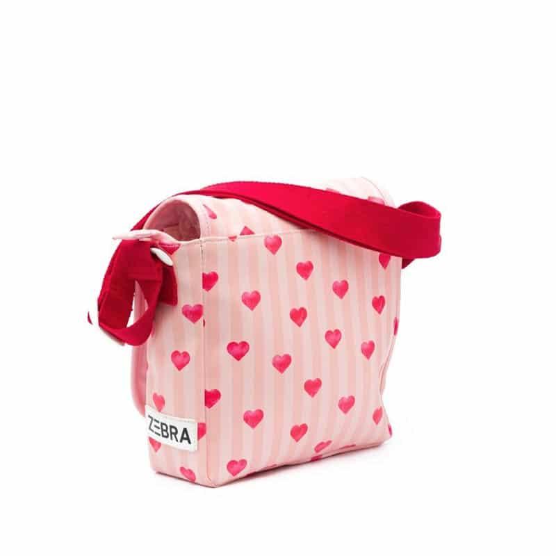 Zebra Trends Kids Crossbody Stripes & Hearts Pink