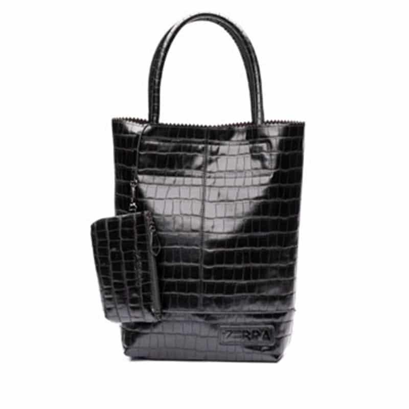 Zebra Trends Natural Bag Kartel Black Croco-0