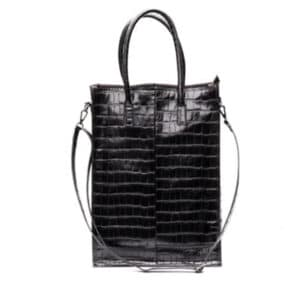 Zebra Trends Natural Bag Rosa XL Black Croco